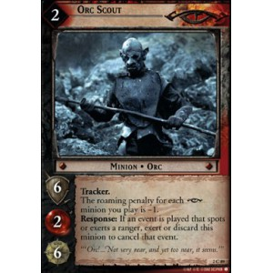 The Lord of the Rings - Mines of Moria - Orc Scout - 2C89 - Version Brillante/foil