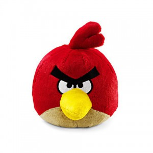 Angry Birds - Peluche sonore rouge