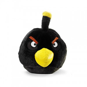 Angry Birds - Peluche sonore noire
