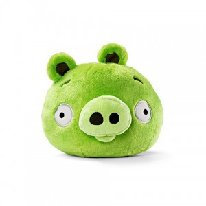 Angry Birds - Peluche sonore verte cochon