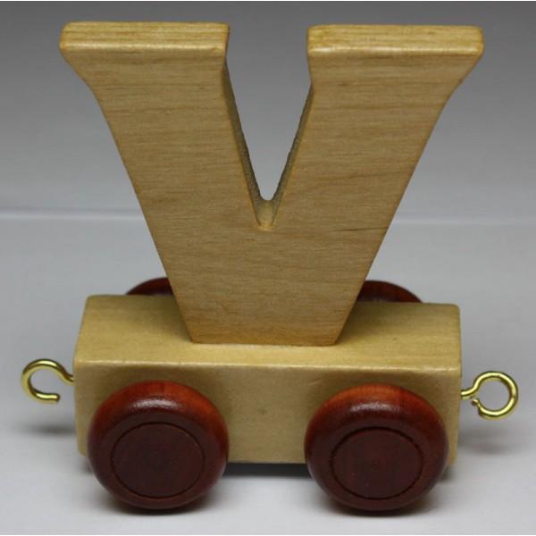 jouet en bois petit train de lettres lettre v jouet en bois jouets et. Black Bedroom Furniture Sets. Home Design Ideas