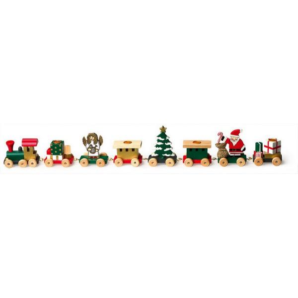 Jouet en bois  Train de Noël  Jouet en bois  jouetset  ~ Train De Bois Jouet