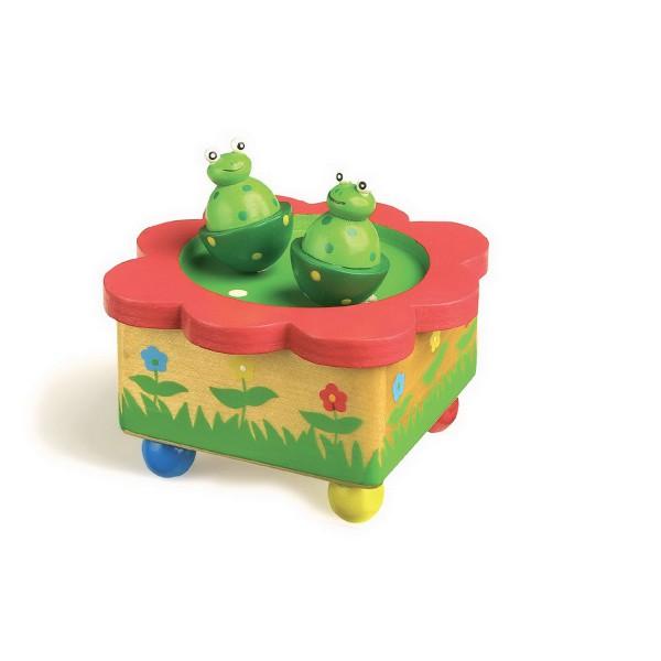 jouet en bois bo te musique la danse des grenouilles jouet en bois jouets et. Black Bedroom Furniture Sets. Home Design Ideas