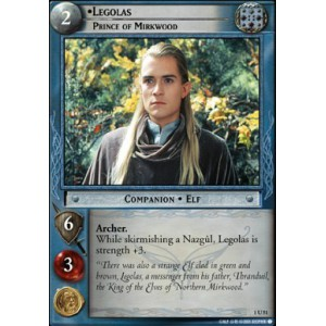 The Lord of the Rings - The Fellowship of the Ring - Legolas, Prince of Mirkwood - 1U51