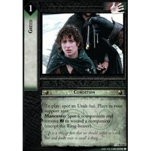 The Lord of the Rings - The Fellowship of the Ring - Greed - 1R125
