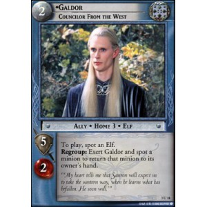 The Lord of the Rings - Realms of the Elf-lords - Galdor, Councilor From the West - 3U18