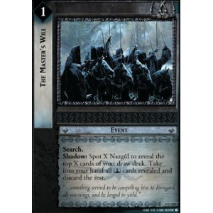 The Lord of the Rings - The Fellowship of the Ring - The Master's Will - 1U215 - Version Brillante/FOIL