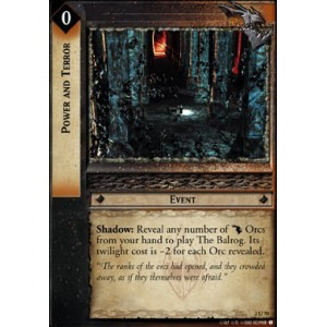 The Lord of the Rings - Mines of Moria - Power and Terror - 2U70 - Version Brillante/FOIL