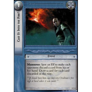 The Lord of the Rings - Realms of the Elf-lords - Cast It Into the Fire! - 3C11 - Version Brillante/FOIL